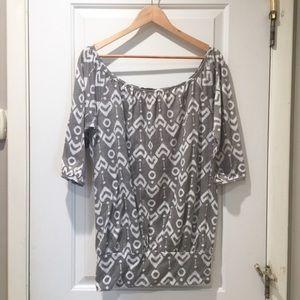 Aztec Geometric Mud Cloth Tunic Top UO Medium